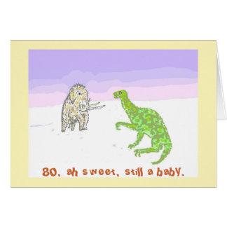 Mamut y dinosaurio tarjeta de felicitación