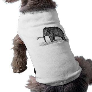 Mamuts lanosos del ejemplo del mamut lanoso del camiseta sin mangas para perro
