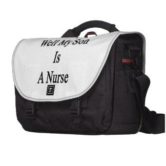 Mana realmente mi hijo es enfermera bolsas para portátil