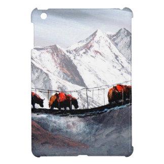 Manada de los yacs Himalaya de la montaña