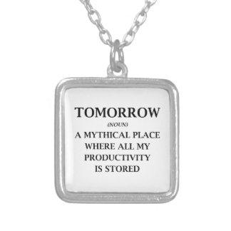 Mañana Collar Plateado