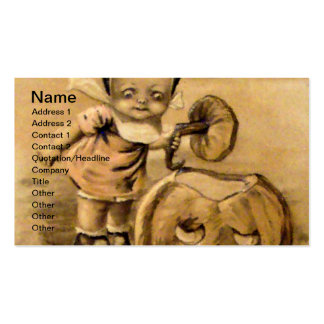 Mañana de Halloween (tarjeta de Halloween del vint Tarjetas De Visita