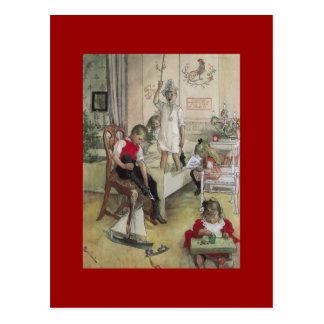 Mañana de navidad de Carl Larsson 1894 Postal