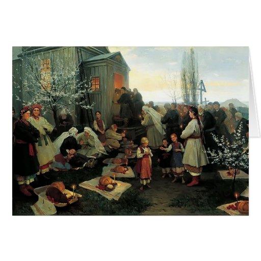 Mañana de oración de Mykola Pymonenko-Pascua, Malo Felicitación