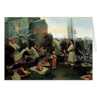 Mañana de oración de Mykola Pymonenko-Pascua, Malo Tarjeton