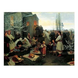 Mañana de oración de Mykola Pymonenko-Pascua, Malo Postal
