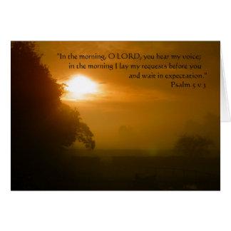 Mañana de oración el | tarjeta de felicitación