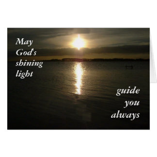 Mañana de oración tarjeta de felicitación
