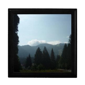 Mañana de Transylvanian en las montañas Joyero