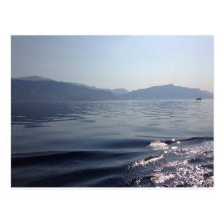 Mañana en el mar postal