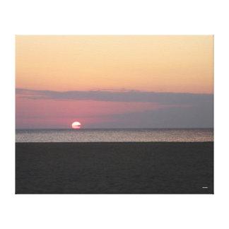 Mañana en la playa lienzo