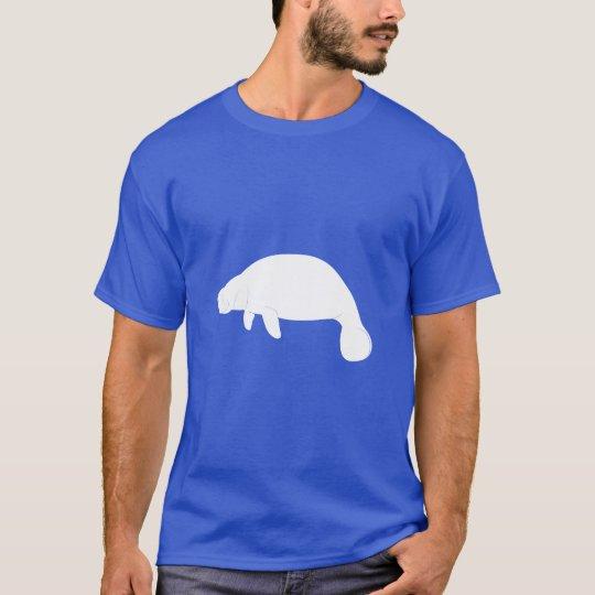Manatee en silueta camiseta