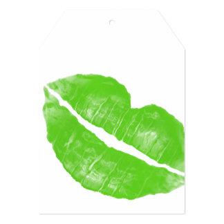 Mancha blanca /negra irlandesa verde grande del comunicado personal