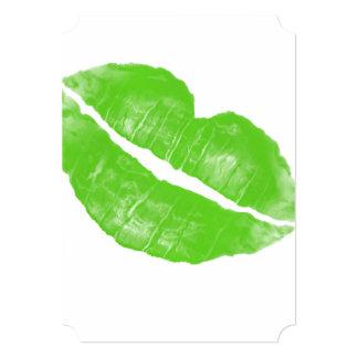 Mancha blanca /negra irlandesa verde grande del invitación
