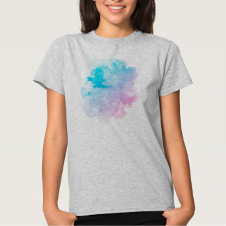 Mancha blanca /negra púrpura de Ombre de la Camisetas