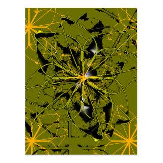 Manchas blancas /negras de oro del extracto de los postal