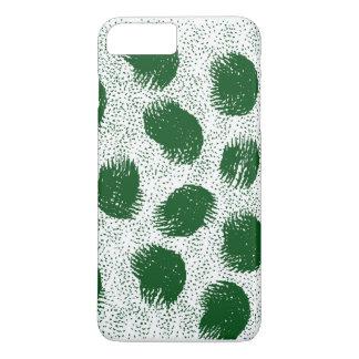 Manchas blancas /negras del verde funda iPhone 7 plus