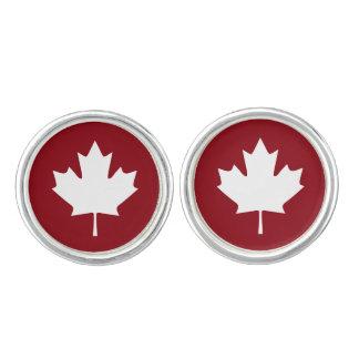 Mancuernas de la hoja de arce de Canadá Gemelos