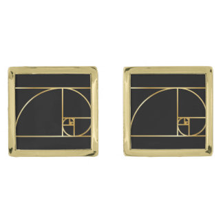 Mancuernas de oro del coeficiente gemelos dorados