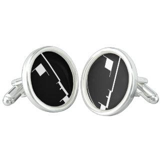 Mancuernas del logotipo del Bauhaus Gemelos
