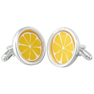 Mancuernas del naranja de la fruta cítrica del gemelos