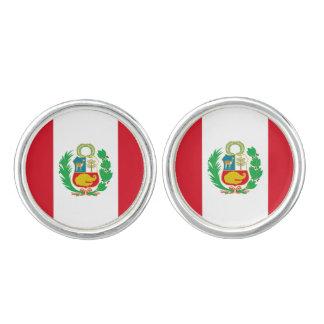 Mancuernas peruanas de la bandera gemelos