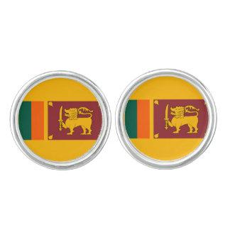 Mancuernas srilanquesas de la bandera gemelos