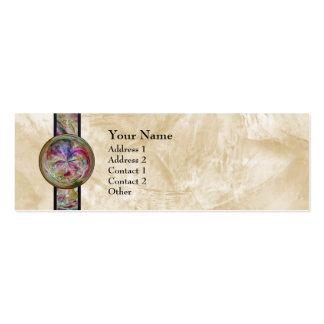 Mandala abstracta de la burbuja con la cinta plantilla de tarjeta de negocio