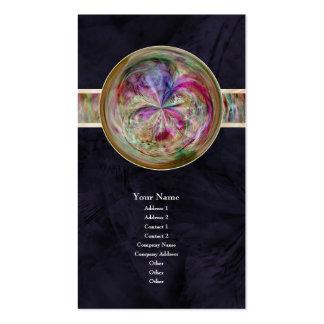 Mandala abstracta de la burbuja con la cinta tarjetas personales