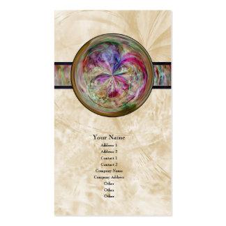 Mandala abstracta de la burbuja con la cinta plantillas de tarjetas personales