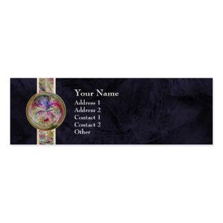 Mandala abstracta de la burbuja con la cinta tarjeta de visita