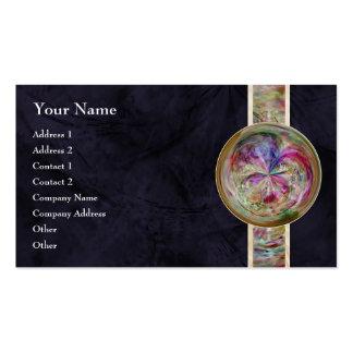 Mandala abstracta de la burbuja con la cinta tarjetas de visita