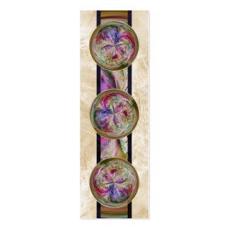 Mandala abstracta de la burbuja con la señal de la tarjetas de visita