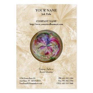 Mandala abstracta multicolora de la burbuja plantilla de tarjeta personal