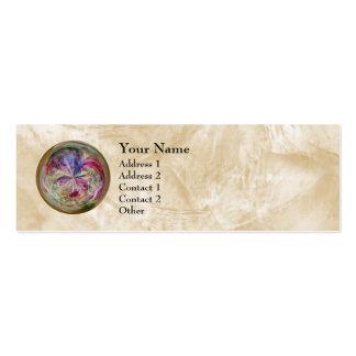 Mandala abstracta multicolora de la burbuja tarjeta personal