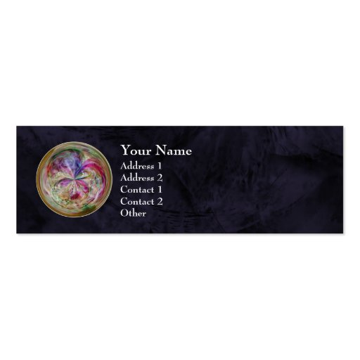 Mandala abstracta multicolora de la burbuja plantilla de tarjeta de negocio