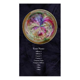 Mandala abstracta multicolora de la burbuja tarjetas de visita