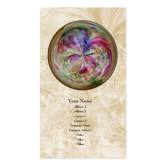 Mandala abstracta multicolora de la burbuja plantillas de tarjetas personales