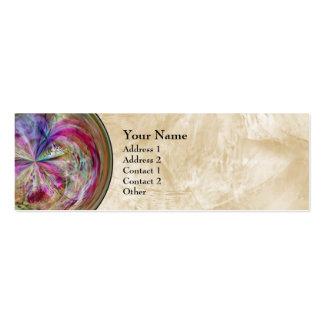 Mandala abstracta multicolora de la burbuja plantilla de tarjeta de visita