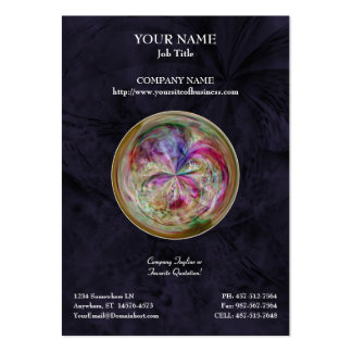 Mandala abstracta multicolora de la burbuja tarjetas personales