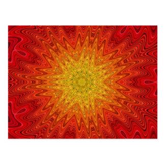 Mandala anaranjada y amarilla de Sun de la estrell