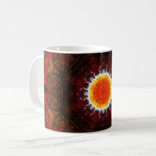 Mandala ardiendo de Sun Taza De Café