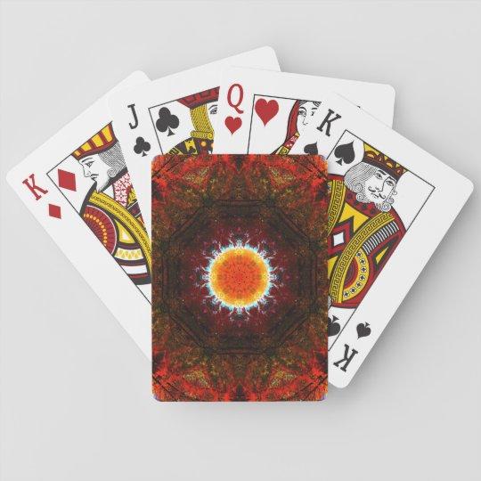 Mandala ardiente de la base barajas de cartas