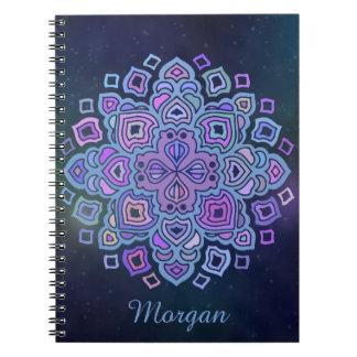 Mandala azul cuaderno