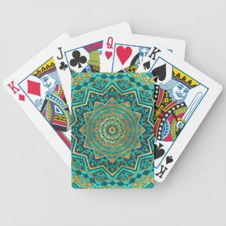 Mandala azul del topaz baraja de cartas bicycle