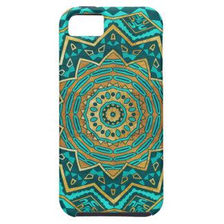 Mandala azul del topaz funda para iPhone SE/5/5s