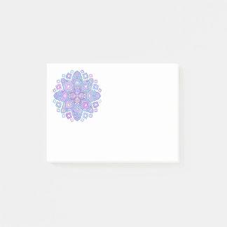 Mandala azul notas post-it®