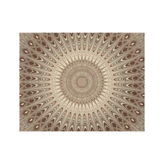 Mandala beige lienzo