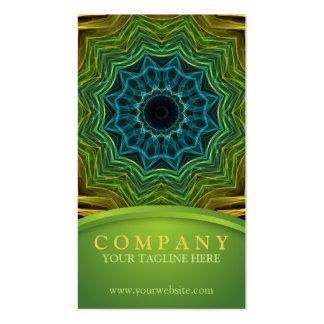 Mandala bien colorida tarjetas de visita