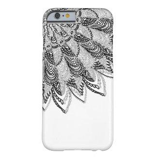 Mandala blanco y negro compensada funda barely there iPhone 6